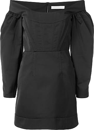Dion Lee off-shoulder mini dress - Black