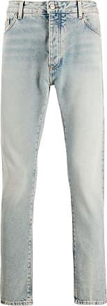 Palm Angels Light wash logo jeans
