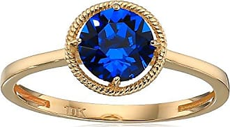 Amazon Collection 10k Gold Swarovski Crystal September Birthstone Ring, Size 6