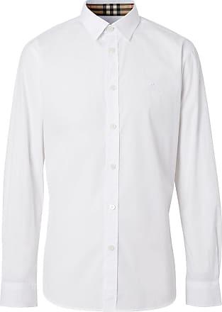 Burberry Camisa Oxford com logo bordado - Branco