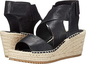 f97c0a252f7d Eileen Fisher Willow (Black Tumbled Leather) Womens Wedge Shoes