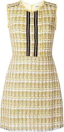 Liu Jo sleeveless tweed dress - Yellow