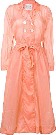 Forte_Forte belted double-breasted coat - Orange