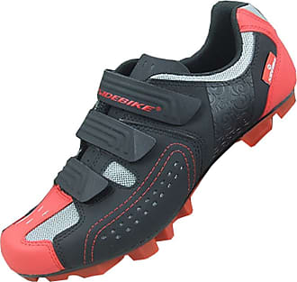 Insun Mens Professional Bike Shoes MTB Red-Black 3 UK 10.5