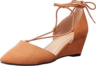 Chinese Laundry Womens Trissa Ghillie Wedge Pump, Caramel Super Suede, 6 M US