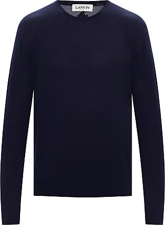 Lanvin Wool Sweater Mens Navy Blue