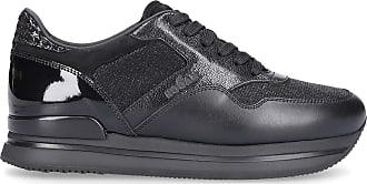 Hogan Low-Top Sneakers H222 calfskin Tweed Logo black