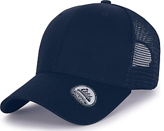 Ililily Extra Big Size Adjustable Mesh Back Curved Baseball Cap Trucker Hat (ballcap-1258-3) Navy