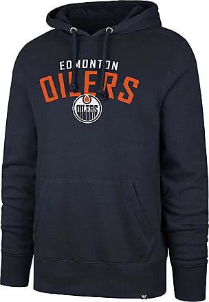 47 Brand 47 Forty Seven Brand Edmonton Oilers Outrush Headline Hoody Fall Navy Mens Kapuzenpullover Herren