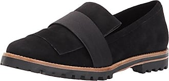 Bernardo Womens ORA Loafer Flat, Black Suede/Satin, 5M M US