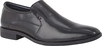 Lotus Black Oliver Leather Slip-On Loafers 10