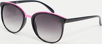 Jeepers Peepers Occhiali da sole oversize con dettaglio rosa-Nero