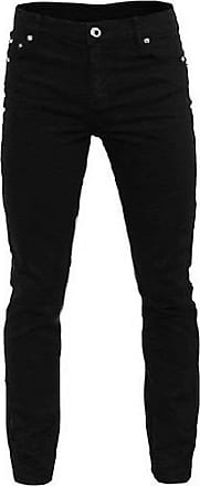 Relco Mens Skinny Jeans with Stretch - Black (W34 - L32)
