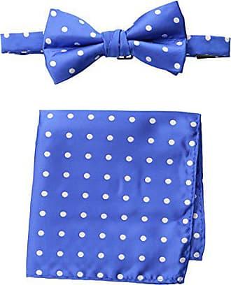 Stacy Adams Stacy Adams Mens Satin Dot Bow Tie Set, Royal, One Size