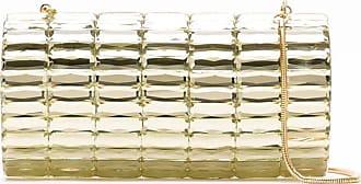 Isla Bolsa clutch espelhada - Dourado