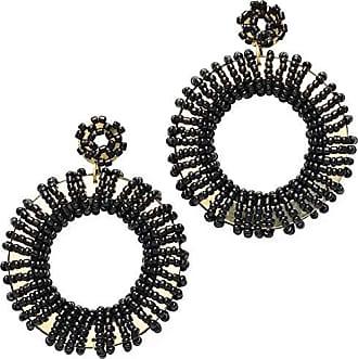 Tinna Jewelry Brinco Dourado Roda Com Metal E Resinas (Preto)