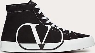 Valentino Garavani Valentino Garavani Uomo Tricks High-top Canvas And Suede Sneaker Man Black Calfskin 100% 41.5