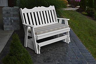 A & L Furniture A & L Furniture Poly Royal English Glider Bench, 5, White