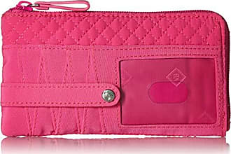 Vera Bradley Iconic RFID Ultimate Card Case, Microfiber, Rose Petal