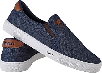 Polo Joy Tênis Polo Joy Slip On Iate Masculino Cano Baixo Casual - Azul-branco - 46