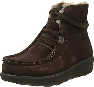 ed441b7c0b648 FitFlop Loaff Lace-Up Ankle Boot Shearling, Bottes Chukka Femme, Noir,  Marron
