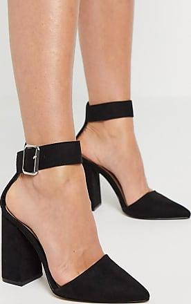 Qupid Qupid - Scarpe nere con tacco largo-Nero