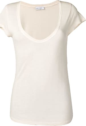 Fine Edge deep scoop neck T-shirt - Neutro