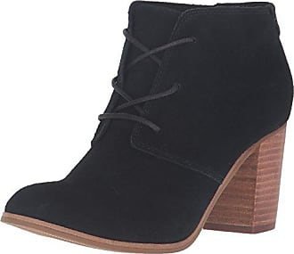 0bbe32a8655 Toms Toms Womens Black Suede Lunata Lace-Up Womens Bootie In Size 39 Black