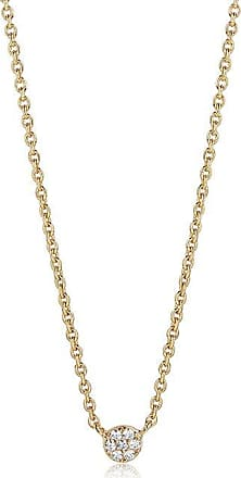 Sif Jakobs Jewellery Necklace Cecina - 18k gold plated with white zirconia