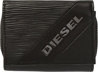 Diesel Branded Folding Wallet Mens Black