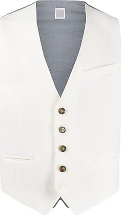 Eleventy woven sleeveless waistcoat - White
