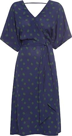 Shoulder Vestido Poá - Azul