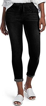 ffa7a30da47bb1 Hue Womens Sweatshirt Denim Cuffed Capri Leggings, black wash, XS
