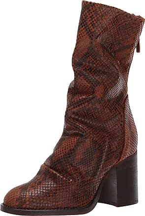 Free People Elle Block Heel Boot Brown Combo 41 (US Womens 11) M