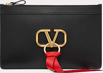Valentino Garavani Valentino Garavani V-ring Pouch Women Black Calfskin 100% OneSize