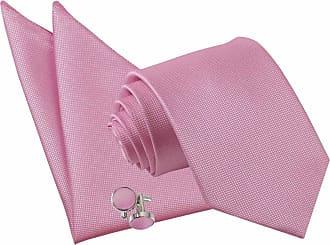 DQT Woven Plain Solid Check Fuchsia Pink Handkerchief Hanky Pocket Square