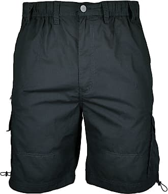 Espionage Big Mens Black Helm Poplin Cargo Shorts, Size : 3XL