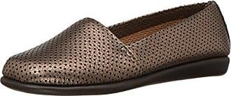 Aerosoles Womens Mr Softee Slip-On Loafer, Gold Combo, 12 M US