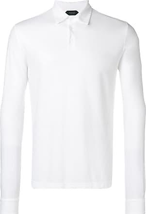 Zanone long-sleeve polo shirt - White