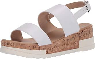 Yoki Womens BRENDA-80 Flat Sandal, White, 6.5 UK