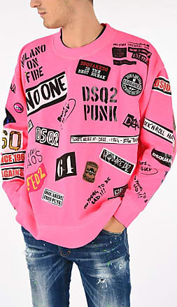 Dsquared2 Printed Sweatshirt with Patches Größe Xs