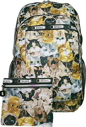 GFM Colourful Rucksack Backpack A4 FOLDERS School For Boys and Girls (Style 1-6215-MTLCT-KLBH), L,.Style 1 - Multi Cats (Mtlct-klbh)