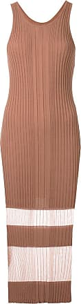 Dion Lee Opacity tank dress - Brown