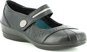 Padders Sunshine 2 Ladies Leather Wide (E/2E) Shoes Black UK 4