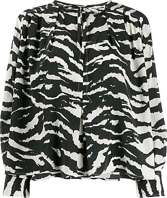 Isabel Marant zebra-printed tunic top - Black