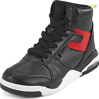 Zumba Air Classic High Top Shoes Dance Fitness Workout Sneakers for Women, Blackred, 6.5 UK