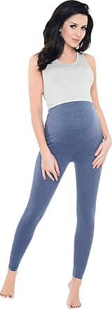 Purpless Maternity Pregnancy Leggings Belly Support Stretchy Long Over Bump Cotton Trousers for Pregnant Women 1025 (10, Jeans Melange)