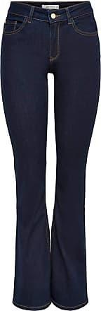 Jacqueline de Yong Womens JDYELIA Flared RW DNM NOOS Bootcut Jeans, Blue (Dark Blue Denim Dark Blue Denim), 30W x 32L