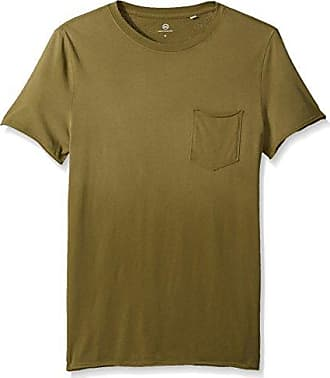 AG - Adriano Goldschmied Mens Anders S/s Pocket Crew in Sun Faded Caper Leaf, X-Large