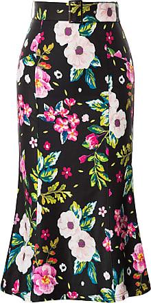 Belle Poque Women Spring Vintage Party Garden Cocktail Knee Length Pencil Skirts Floral-1 XX-Large